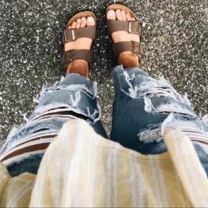 Birkenstock // Arizona Suede Leather Sandals